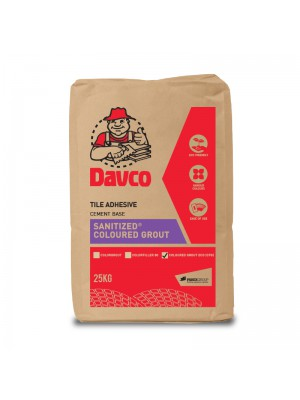 DAVCO SANITIZED COLOURED GROUT ECO CFG (25kg) CAT 1
