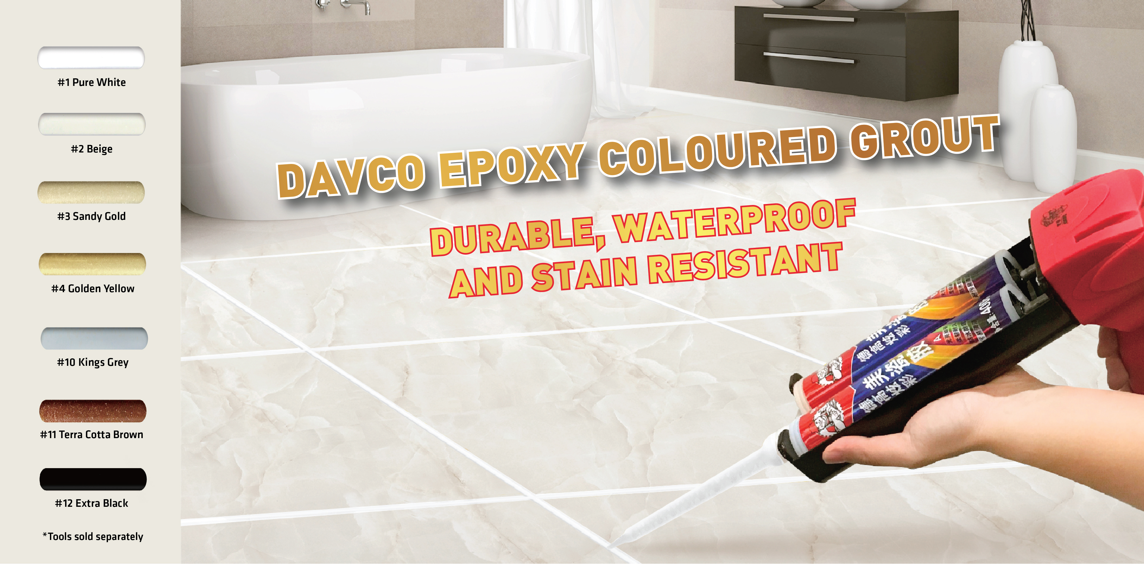 Davco Epoxy Grout Banner